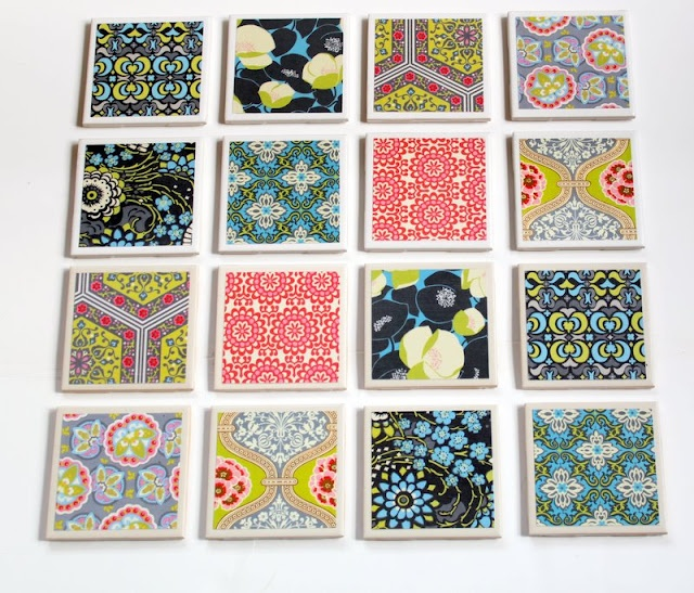 apartment: Diy Coasters, Crafts Ideas, Gifts Ideas, Mod Podge, Homemade Coasters, Scrapbook Paper, Great Gifts, Coasters Tutorials, Tile Coasters