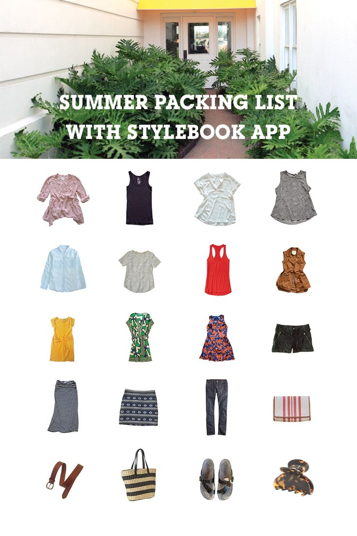 How to make the perfect summer packing list using Stylebook