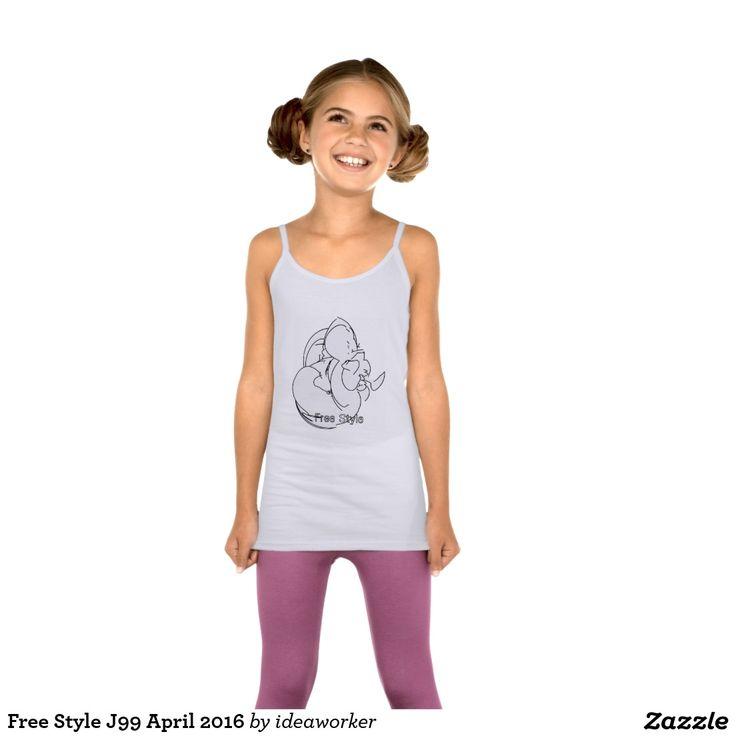 Free Style J99 Girls' LAT Sportswear Spaghetti Strap Tank Top   #design #fashion #freestyle #girl #tanktop