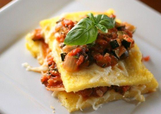 Lasagne di verdure arrosto Polenta