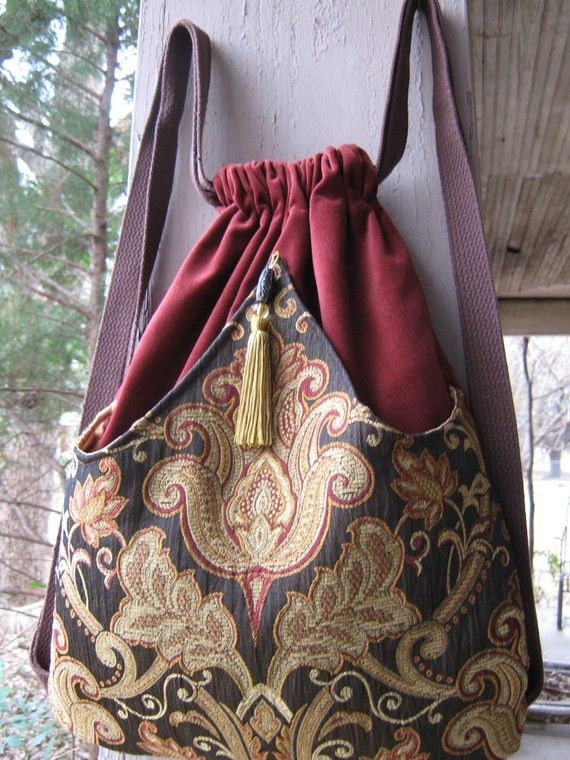 Backpack Medallion Tapestry Boho Backpacks by piperscrossing, $45.00