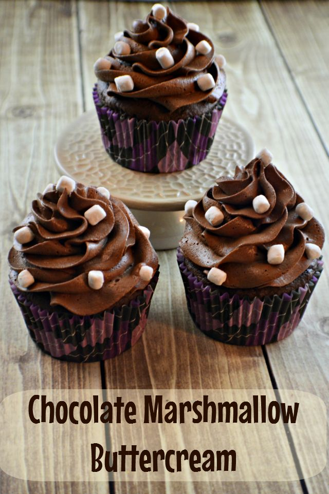 Chocolate Marshmallow Buttercream - AMAZING!!! #cupcakes #recipe
