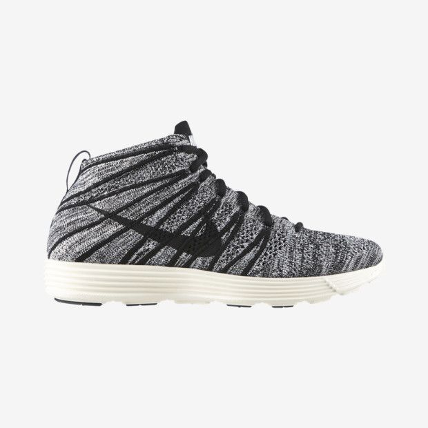 Nike Lunar Flyknit Chukka Men's Shoe - Black/White/Sail