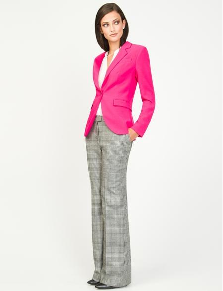 Cute! Pink blazer. Le Chateau. http://www.lechateau.com/style/jump/Women's-Suit-Shop-96/productDetail/Shop-the-look/WOMENSSUITSHOP96/cat210279