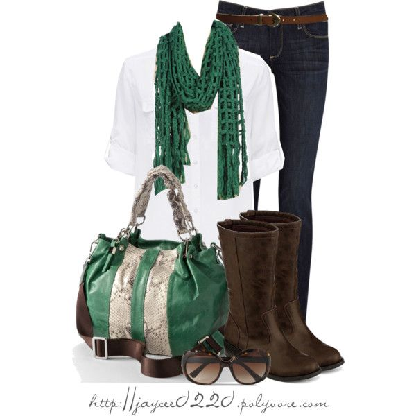 """Green and Brown"" by jaycee0220 on Polyvore"