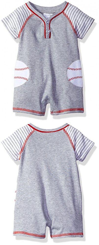 fe937112f Mud Pie Baby Boys' Shortall One Piece, Baseball, 3-6 Months   Babies ...