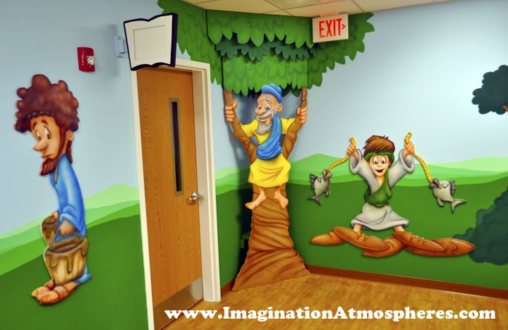41 best bible story wall decals images on pinterest for Church wall mural
