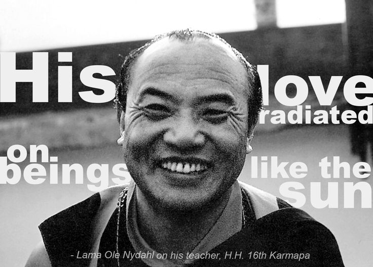 16th Karmapa Lama Ole Nydahl Buddhist Quote