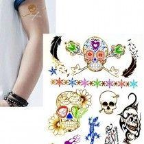 Arany tetoválás - skull