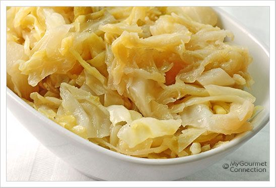 Butter-Braised Cabbage.....cabbage braised in butter and chicken broth.