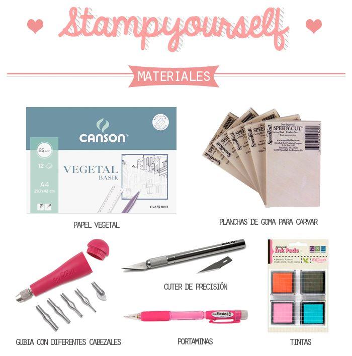 Carvado de sellos: Tutorial, materiales e ideas