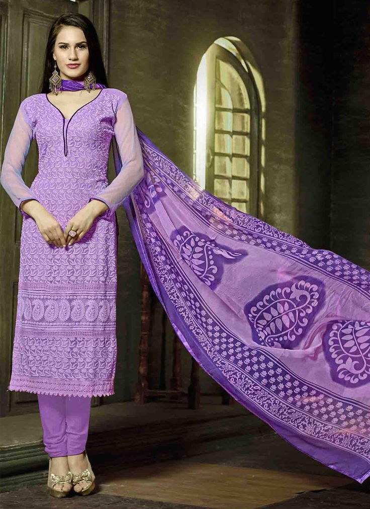 http://www.sareesaga.com/index.php?route=product/product&product_id=16535 Work : Embroidered Resham Work Style : Churidar Suit Shipping Time : 10 to 12 Days Occasion : Party Festival Casual Fabric : Georgette Colour : Lavender For Inquiry Or Any Query Related To Product, Contact :- +91 9825192886