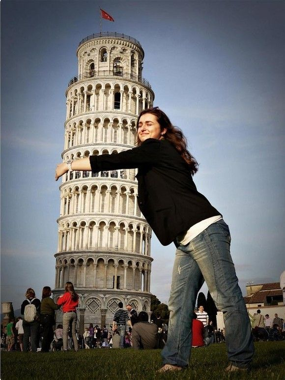 #forced-perspective #photo #woman #towerofpisa