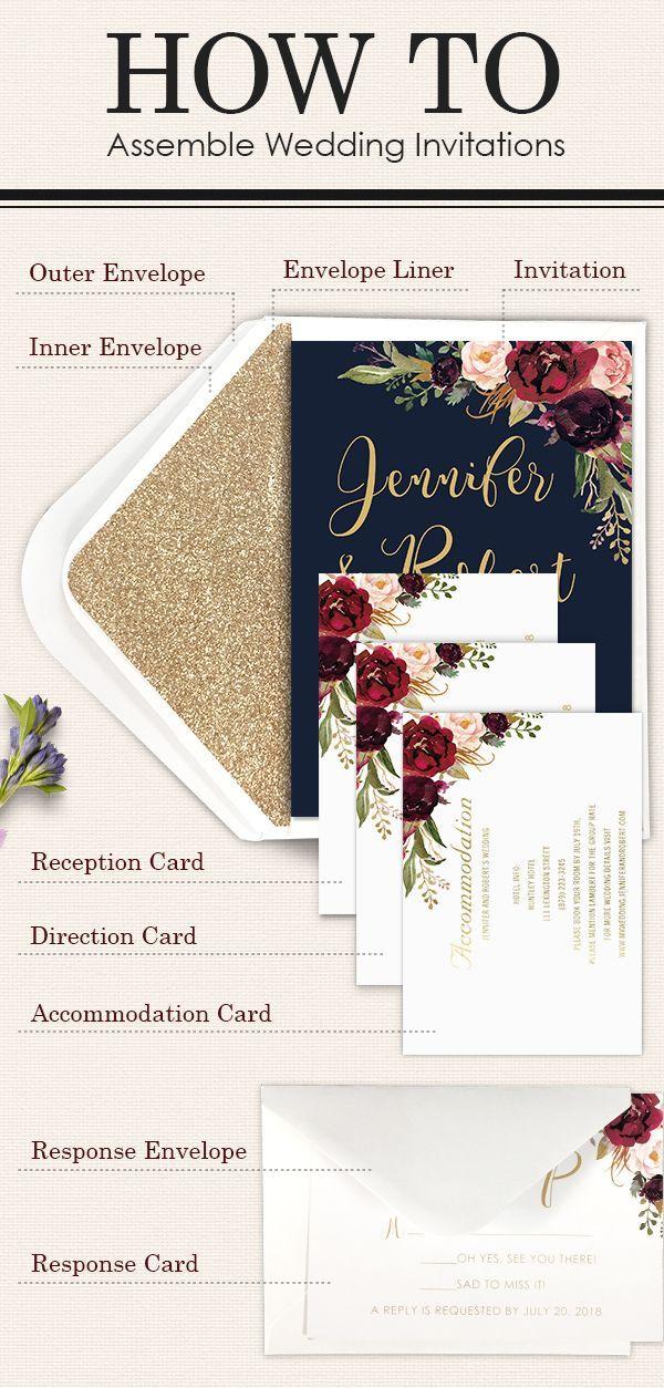 How to Assemble Wedding Invitations #weddingplanningcheatsheet