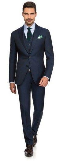 SHOT BLUE FINE SERGE - Louis Purple Luxury Suits