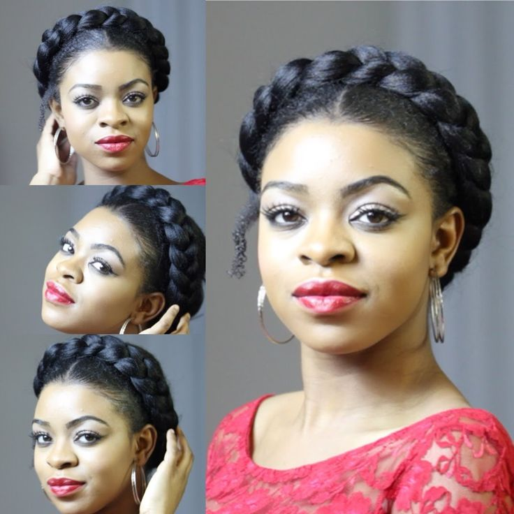 Faux Goddess Braid (Natural hair Protective Style)