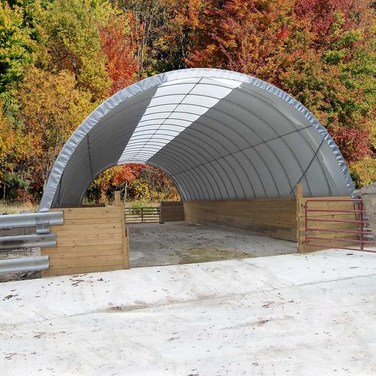 Fabric Carports And Garages : Clearspan pony wall building w quot h l