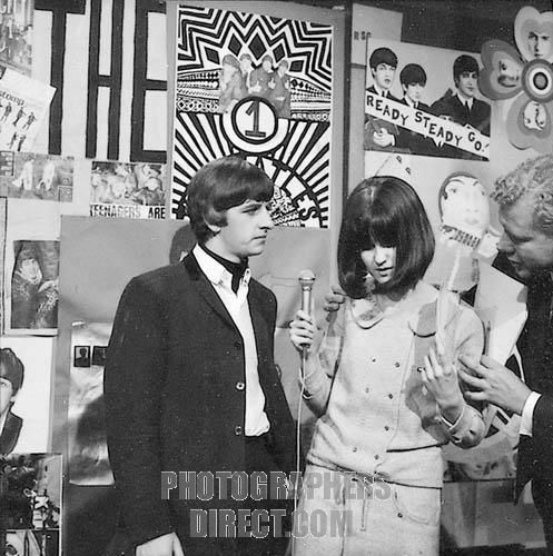 20th March 1964. Ready Steady Go host Cathy McGowan interviews Ringo.