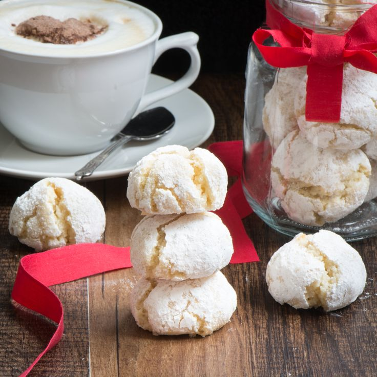 Amaretti biscuits - Delicious soft Amaretti biscuits. So easy to make, crisp on the outside and chewy in the middle and they're naturally gluten-free too.