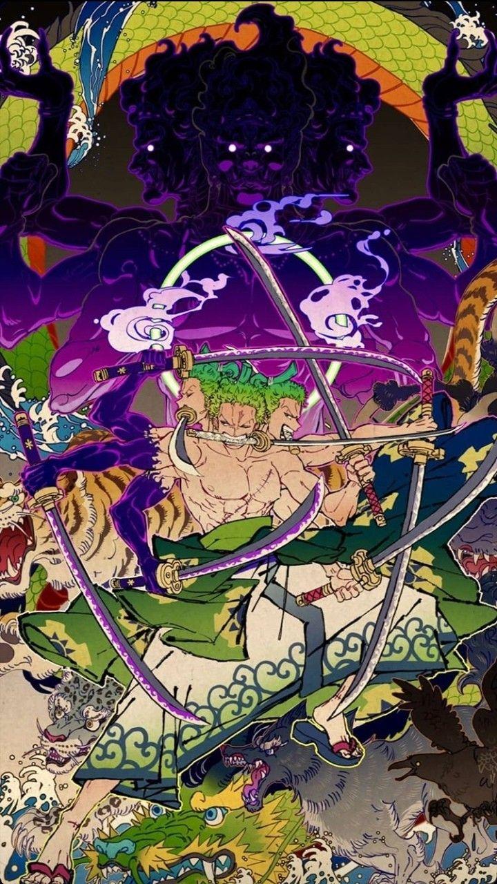 Roronoa Zoro And Ashura Animes Wallpapers Personagens De Anime Manga One Piece