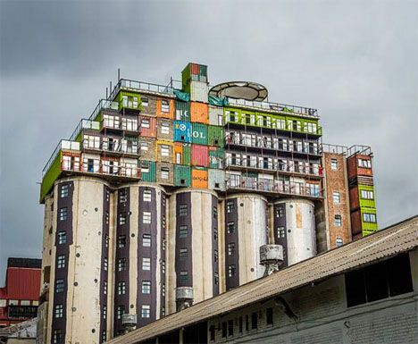 Shipping Containers Reclaimed as Dorms, Johannesburg, South Africa. Project by Citiq Property Developers