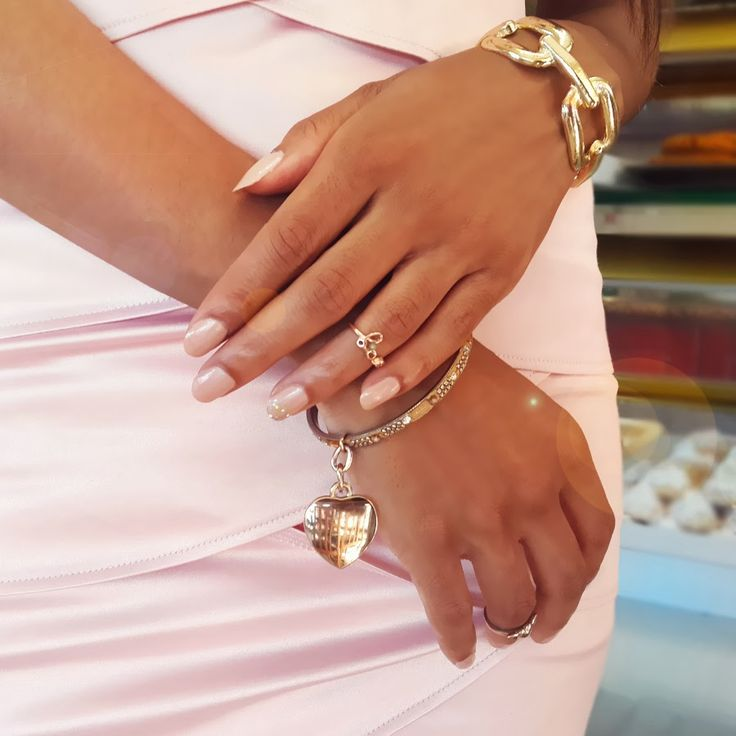 Blog Post : Outfit | Little Pink Dress  Accessories : Gold Bangles and midi rings