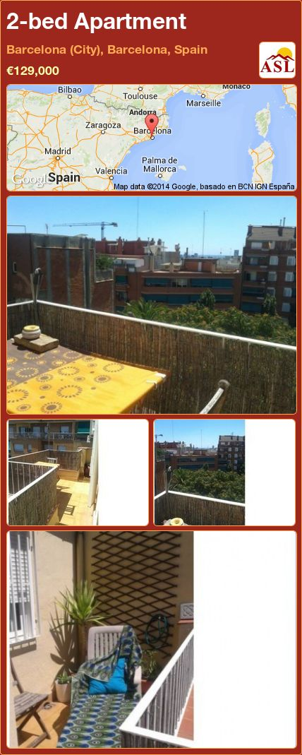 2-bed Apartment in Barcelona (City), Barcelona, Spain ►€129,000 #PropertyForSaleInSpain