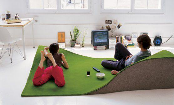 #excll #дизайнинтерьера #решения Благодаря пригоркам на нем можно лежать как на обычном диване…