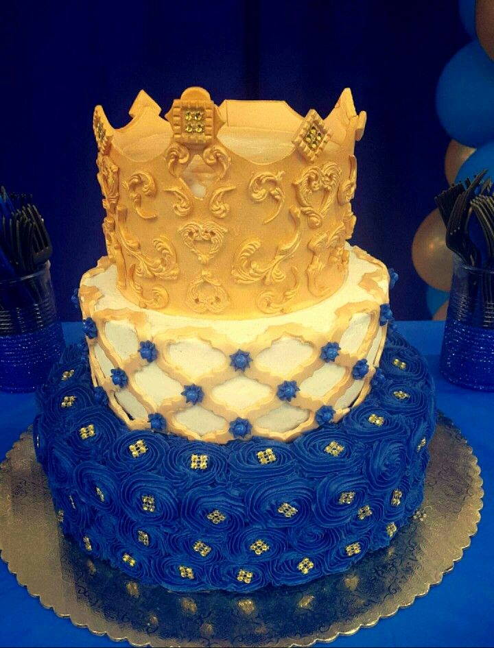 King Baby Shower Crown Cake Toppers
