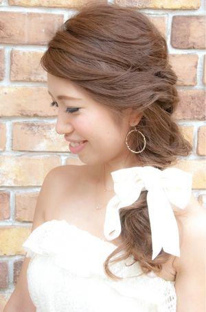 結婚式 二次会に☆人気のワンサイドダウン♪