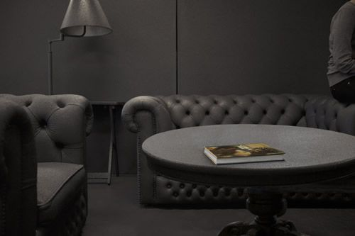 Black tone on tone office  http://www.officedesigngallery.com