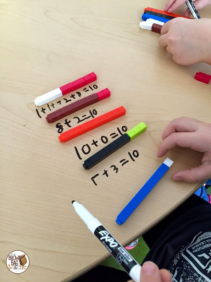 looking at different ways to compose numbers - The Brown-Bag Teacher: Using Cuisenaire Rods