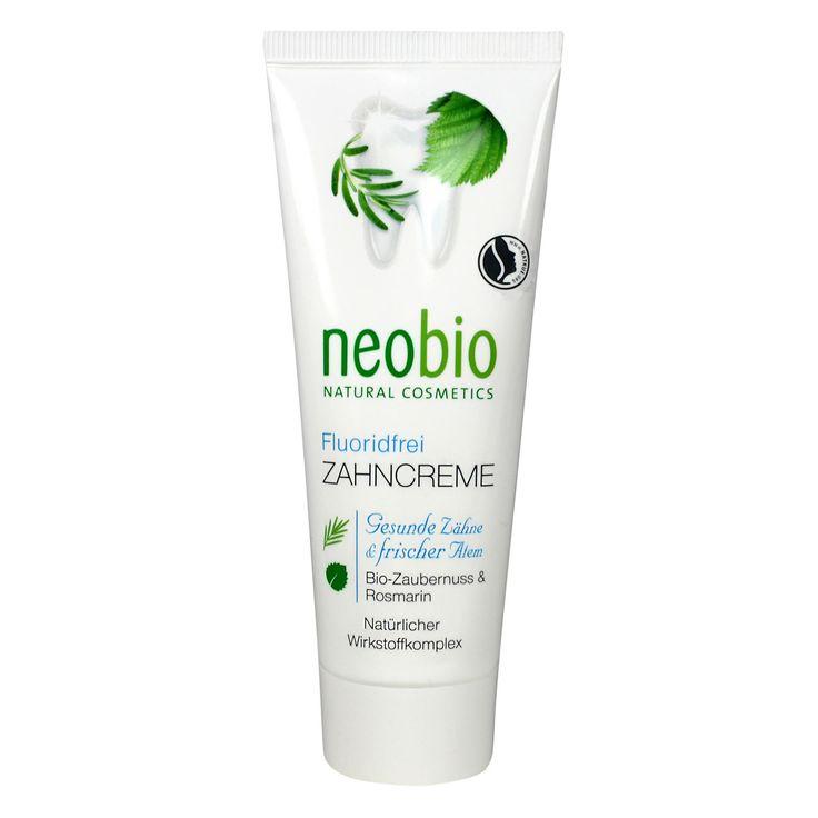 Neobio tandpasta met biologische plantenextracten en minerale zouten verzorgen de tanden en het tandvlees. Zonder fluoride.