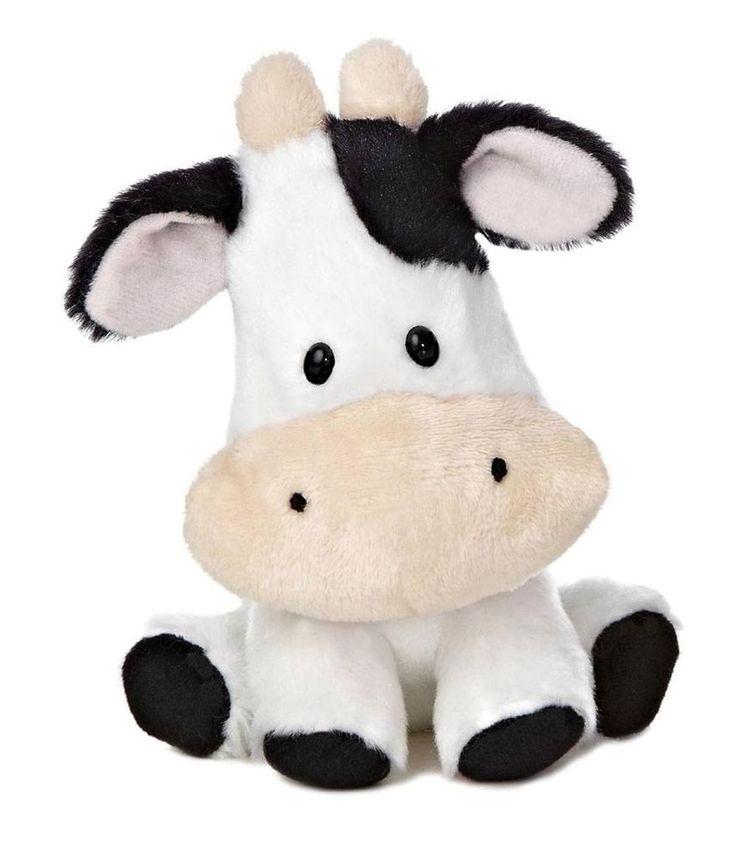 Small Toy Cows : Aurora plush cow wobbly bobblees barnyard farm stuffed