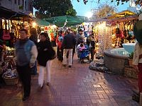 right across the street from union station, Olvera Street (Placita Olvera), is a throw back to different time in the heart of Down town L,A,
