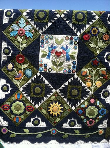 25 Best Ideas About Wool Applique Quilts On Pinterest