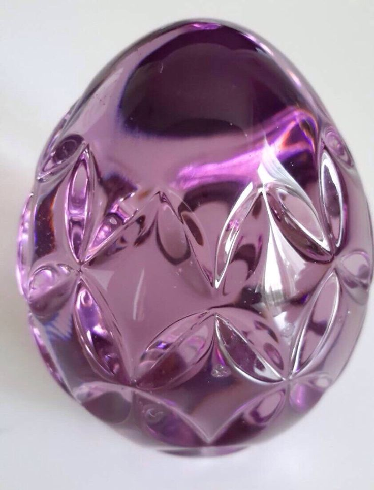 Vintage Ireland Waterford Crystal Egg Paperweight Handcooler - Amethyst, Lavender, Purple, Waterford Crystal Egg, Waterford Crystal, Egg by PinVintage on Etsy https://www.etsy.com/listing/217102065/vintage-ireland-waterford-crystal-egg