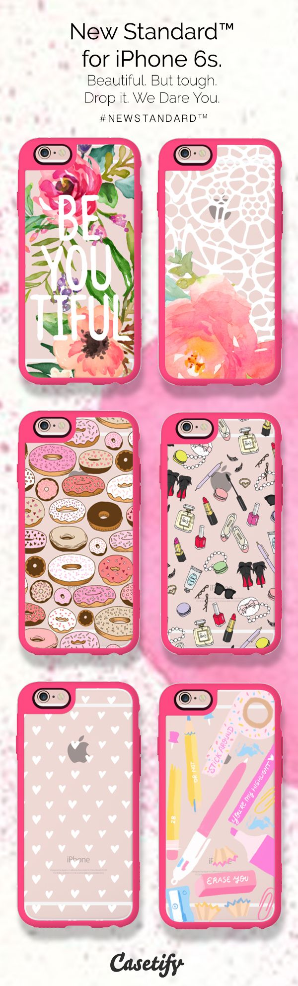 On Wednesdays, we wear pink. Show Your Passion with the New Standard for the iPhone 6S/6S+. Order yours - $39.95  http://www.casetify.com/artworks/72L122TTV8