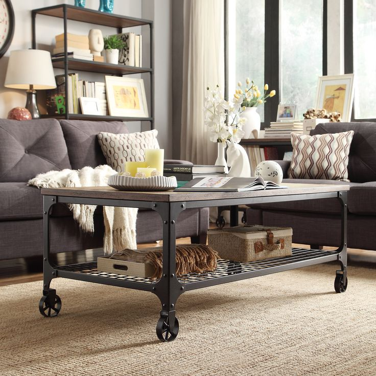 Nelson Industrial Modern Rustic Cocktail Table By TRIBECCA