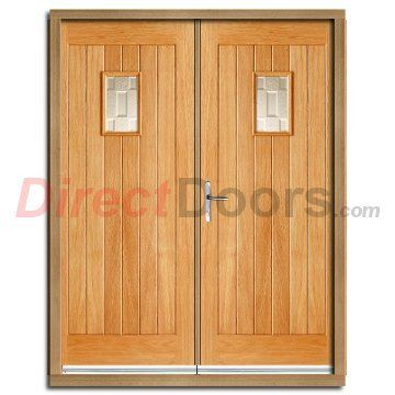 Suffolk oak external double door and frame set with for External double doors and frames