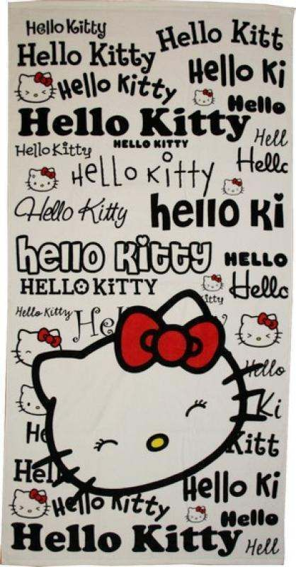 Serviette de plage ou drap de bain Hello Kitty ref 195