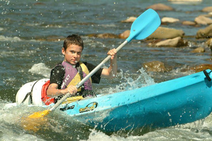 Canoë sur la rivière Ardèche. #canoe #ardeche #riviere #ruoms #sport #eau #paysruomsois
