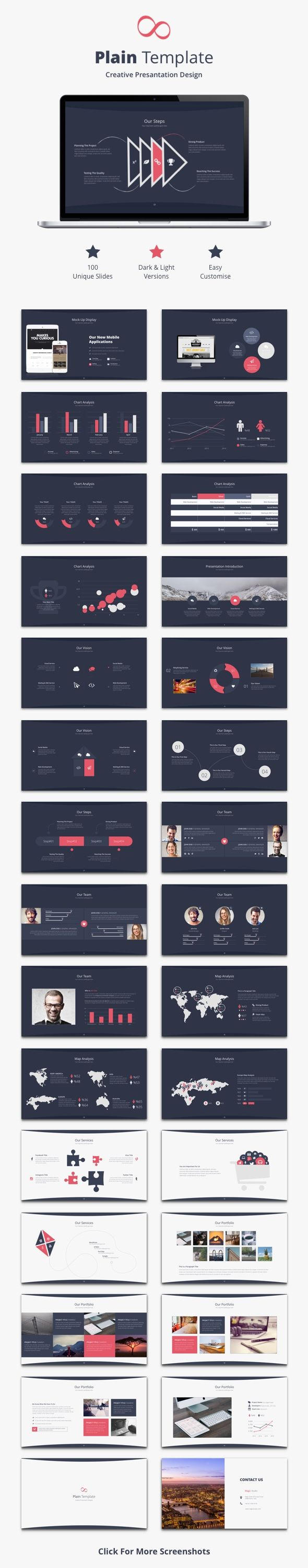Plain Keynote Template - Creative #Keynote #Templates Download here: https://graphicriver.net/item/plain-keynote-template/19380470?ref=alena994