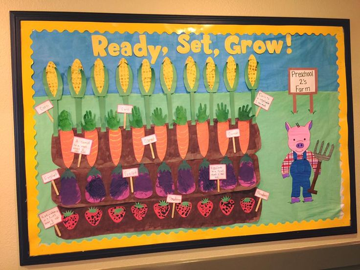 Growing Things Farm Bulletin Board (the little signs have fun facts about those vegetables/fruits)