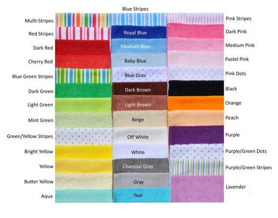 Baby washandjes  uw keuze  10 Pack van TopsyTurvyDiaperCake op Etsy