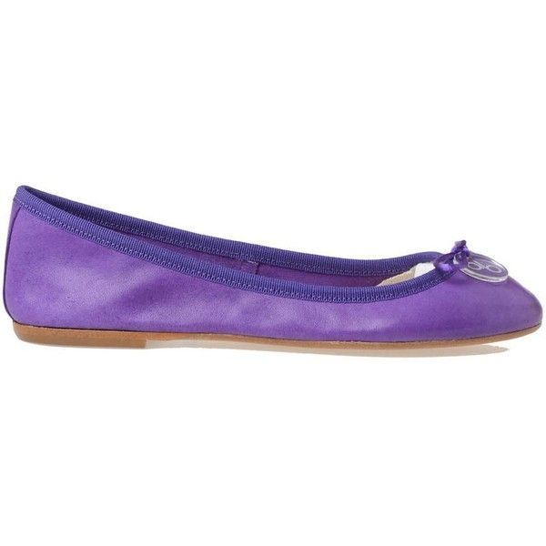 Anna Baiguera Flat Shoes ($105) ❤ liked on Polyvore featuring shoes, flats, purple, ballet pumps, purple flat shoes, leather shoes, purple flats and ballet shoes