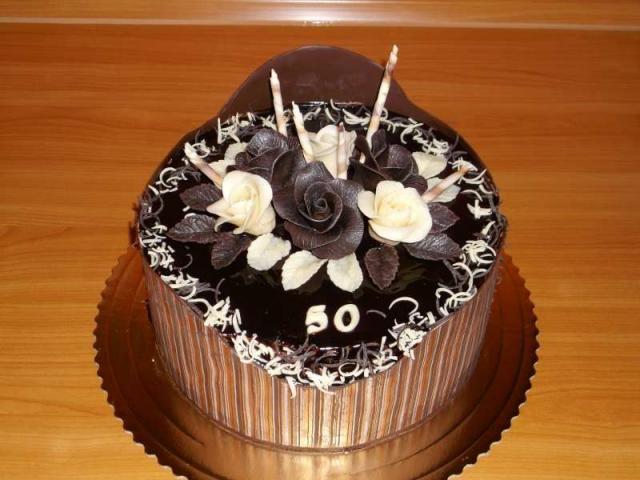 Čokoládová torta na 50. narodeniny