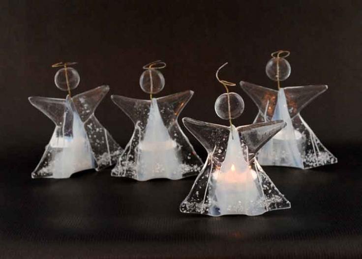 Glasengel tl fyrfadslys - Glaskunst - De 9 Muser