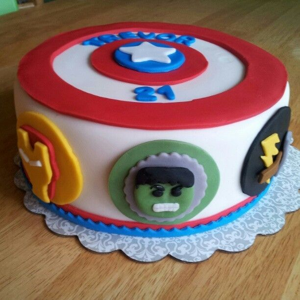 Avengers Cake Birthday Cake Photos