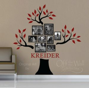 family wall photo display ideas - Google Search
